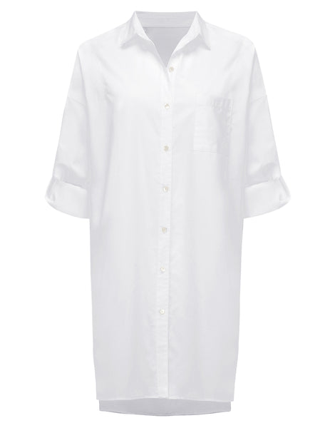 Frances White Shirt Dress | Mimi Holliday Designer Beach Clothes