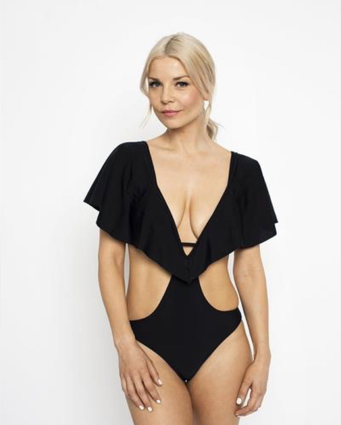 Skychaser Caped Monokini - Black - by West Seventy Nine