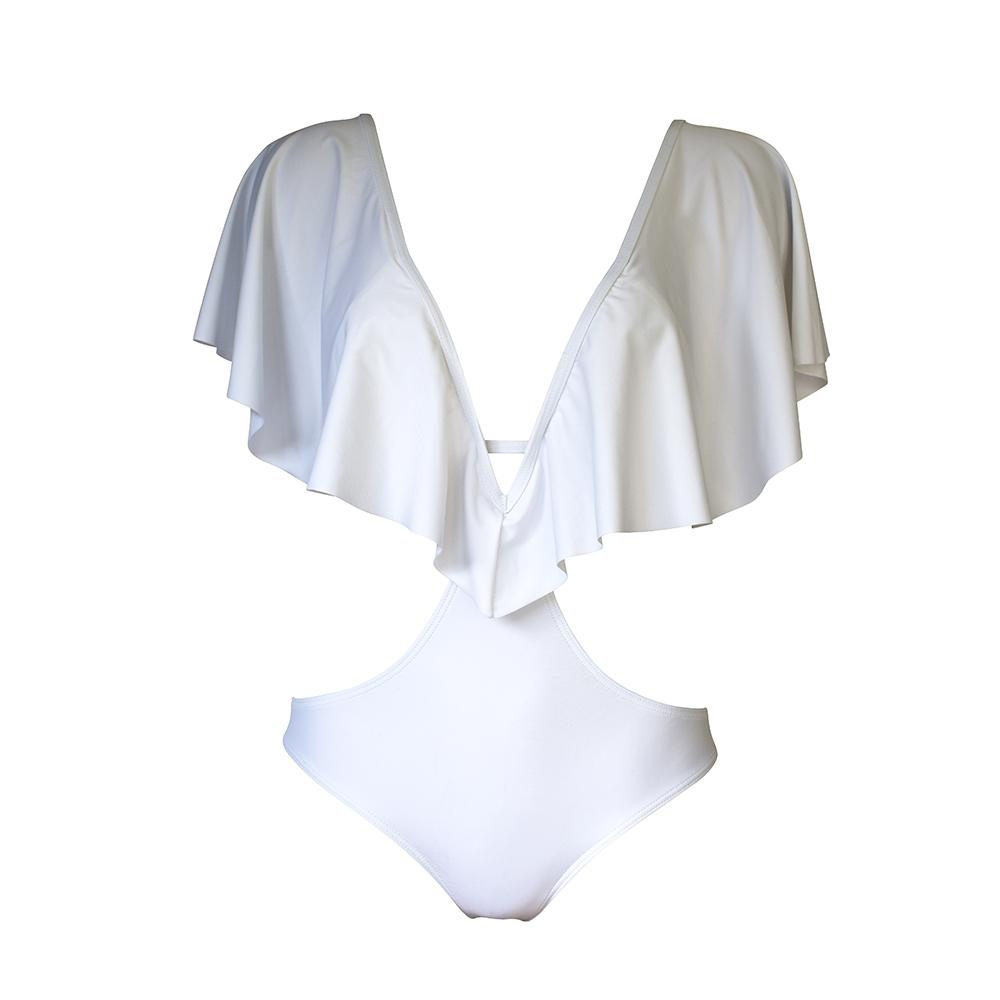 Skychaser Caped Monokini - White - by West Seventy Nine