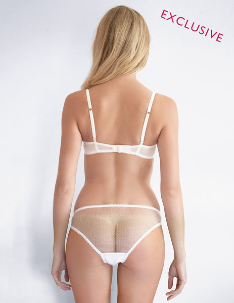 Hvit brudepike knickers | Mimi Holliday Luxury Lingerie