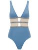 Asteriae Storm  Blue & Silver Sparkle Swimsuit - Designed by 5pm Swimwear