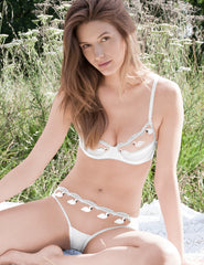 Swan White Lace Padded Push Up BH | Mimi Holliday Luxus Dessous