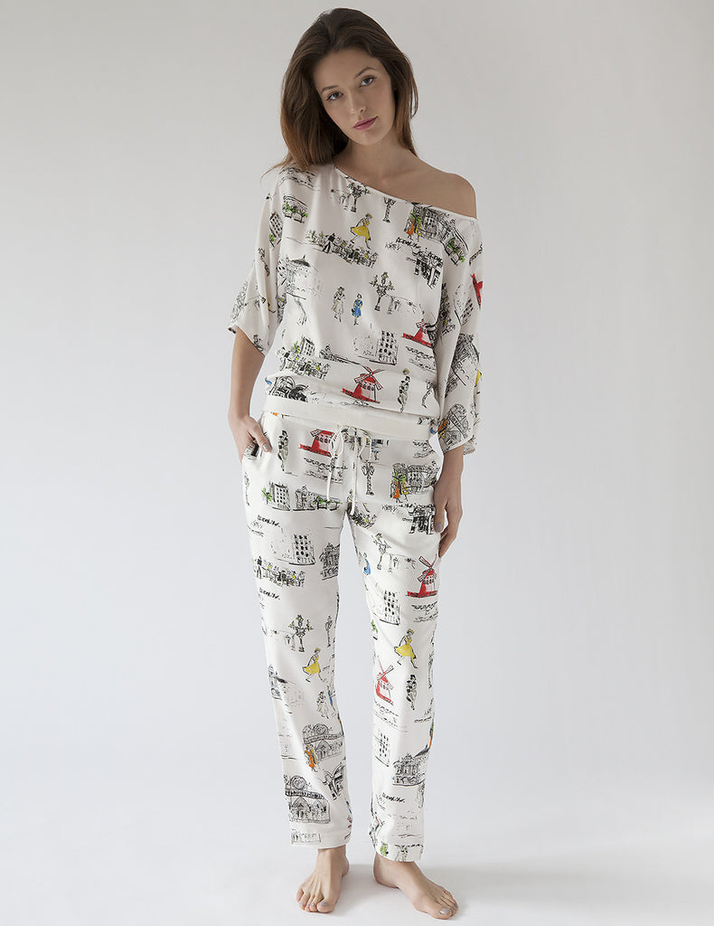 Paris Pajama Bottoms | Mimi Holliday Luxury Loungewear