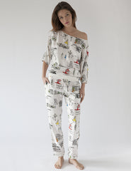 Paris - Pyjama - Unterteile | Mimi Holliday Luxus Loungewear