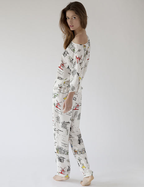 Paris Pajama Bottoms | Mimi Holliday Luxury Nightwear