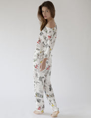 Paris Pyjama Bottoms | Mimi Holliday Luxury Nightwear