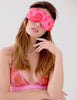 Kiss Chase Pink Lace Eyemask | Mimi Holliday Luksus Undertøj