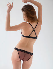 Black Lace Hipster Knickers | Mimi Holliday Designer Lingerie