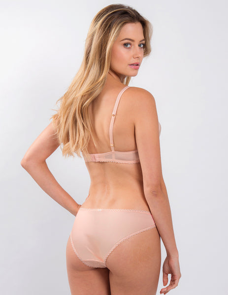 Nude Lace Brief Knickers | Mimi Holliday Designer Undertøj