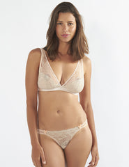 Nude Lace Thong | Mimi Holliday Sexy Lingerie