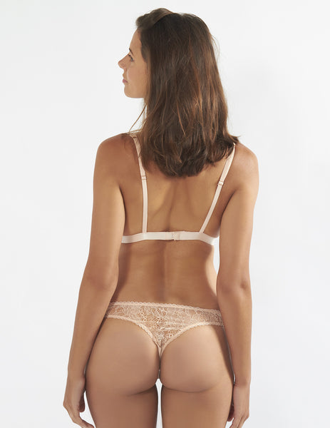 Nude Lace Thong | Mimi Holliday Luxury Lingerie