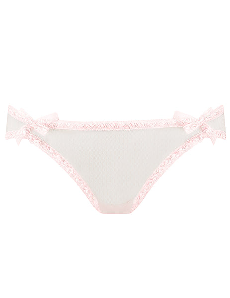 Baby Pink Lace Brief Knickers | Mimi Holliday Designer Underkläder