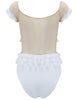 Adella White Ruffle Swimsuit - Criado por 5pm Swimwear