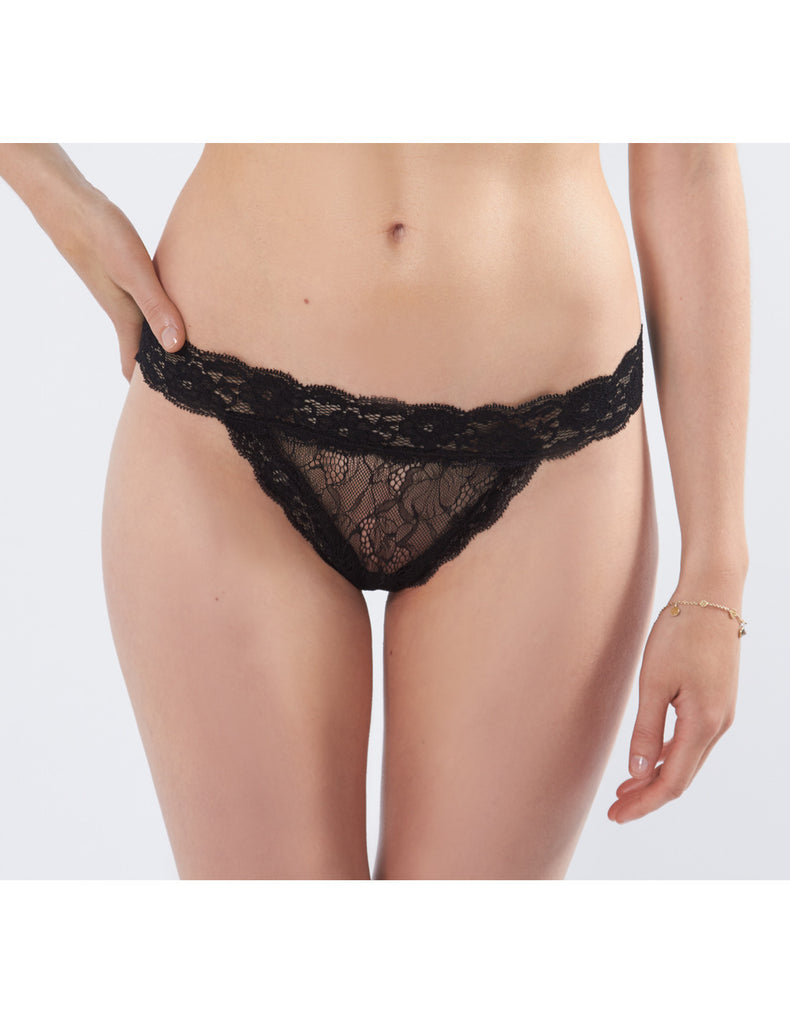 Black Bow Lace Knickers | Mimi Holliday Designer Lingerie