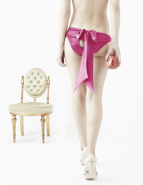 Damaris Copal Pink Bow Knickers | Damaris Designer Undertøj
