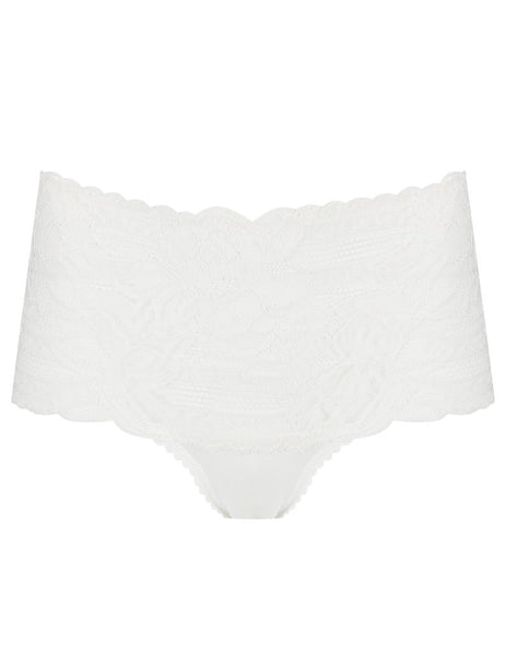 Knickers a vita alta in pizzo floreale bianco | Mimi Holliday Luxury Lingerie
