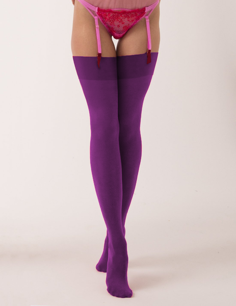 Mimi Stockings - Plum