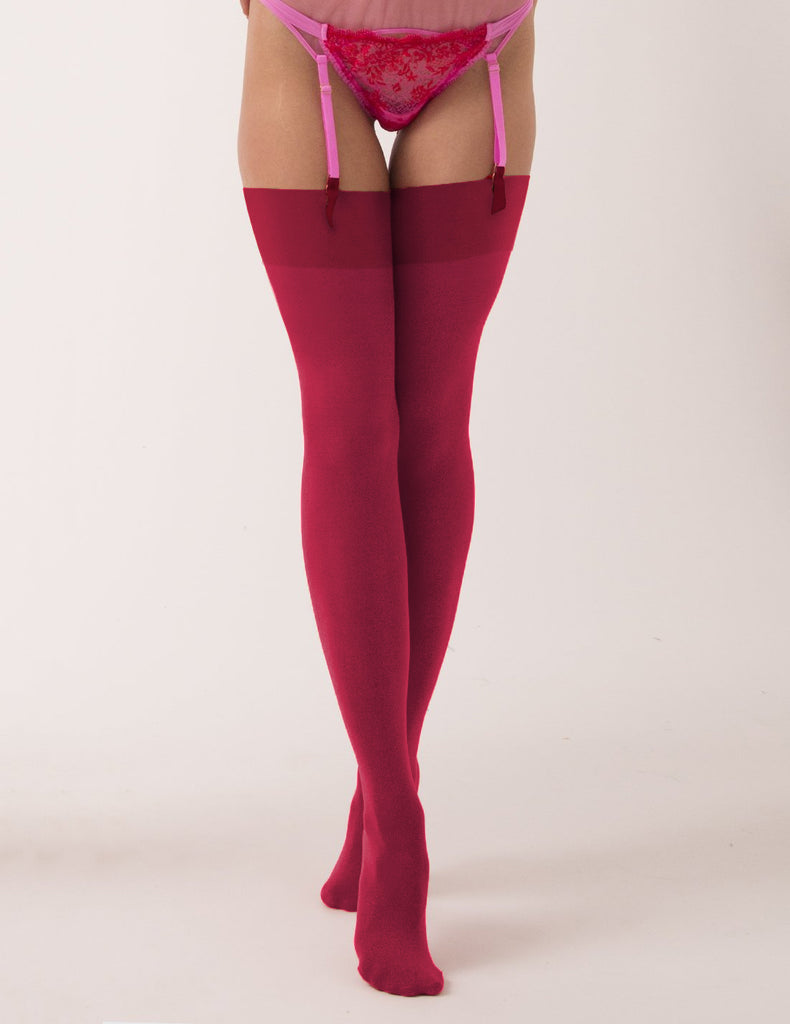 Mimi Stockings - Berry