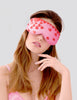 Pink Red Hearts Eye Mask | Mimi Holliday Designer Nightwear