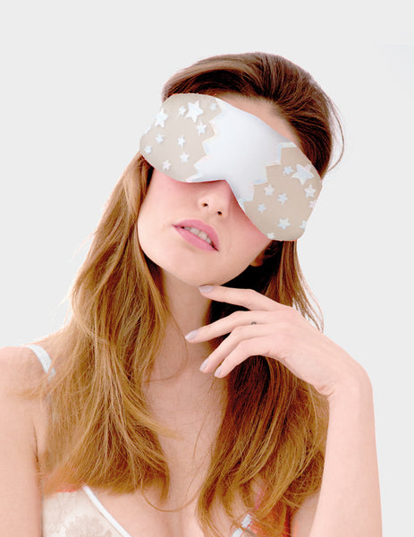 Nude Lace Stars Eye Mask | Mimi Holliday Luxury Nightwear