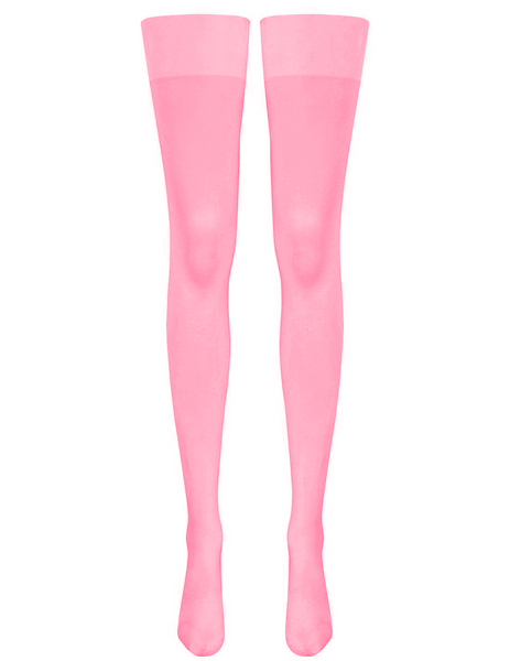 Mimi Stockings - Fluoro Pink (15 Denier)