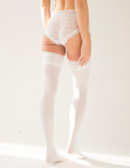Mimi Lace Top Hold Ups - Wit