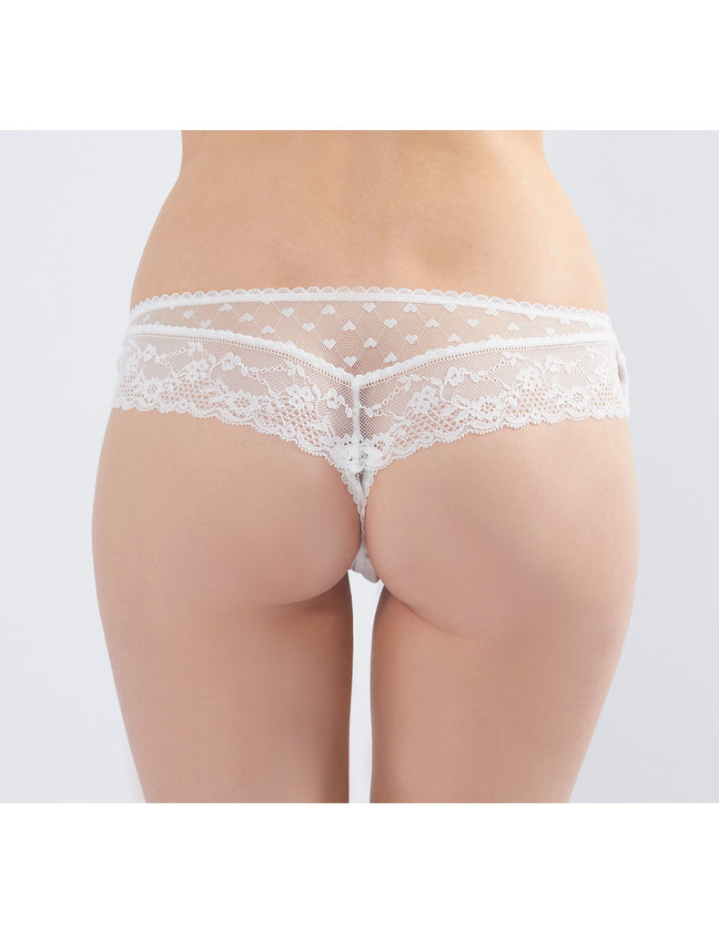 Hvid Lace Boyshort Knickers | Mimi Holliday Sexy Undertøj