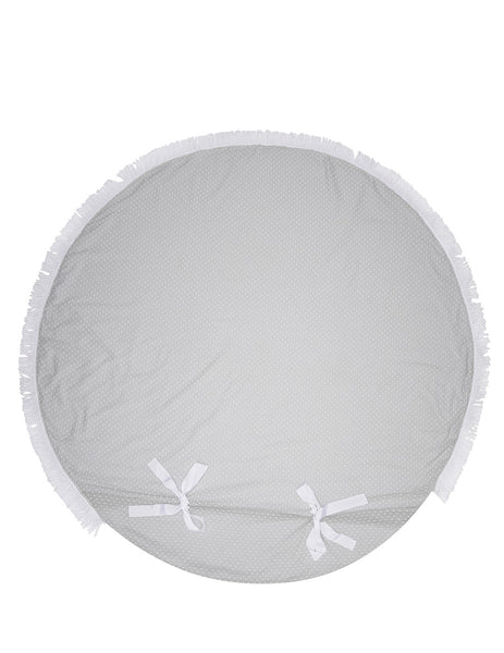 Brigette Large Round Beach Towel | Mimi Holliday Luxury Accessories