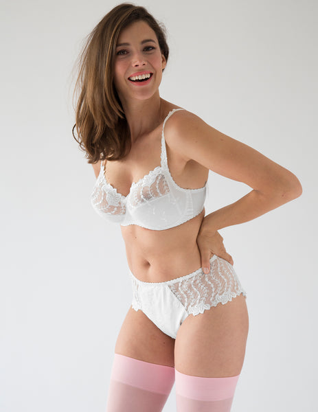 Lys Royal White Full Cup Bra