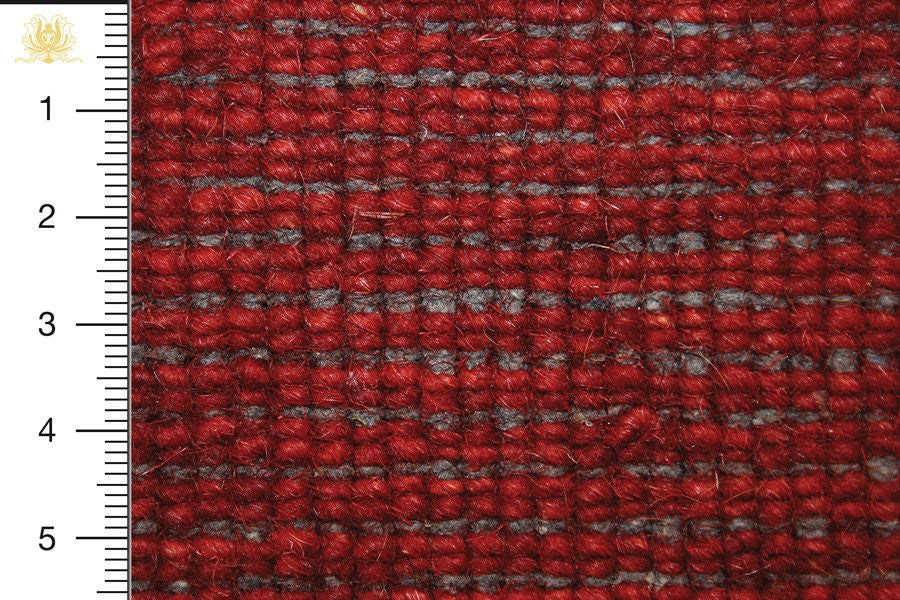 Gabbeh 200x145 closeup on knots from behind