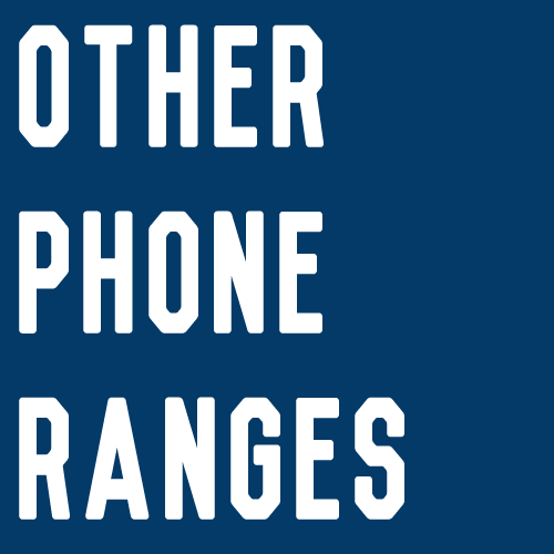 Other Phone Ranges