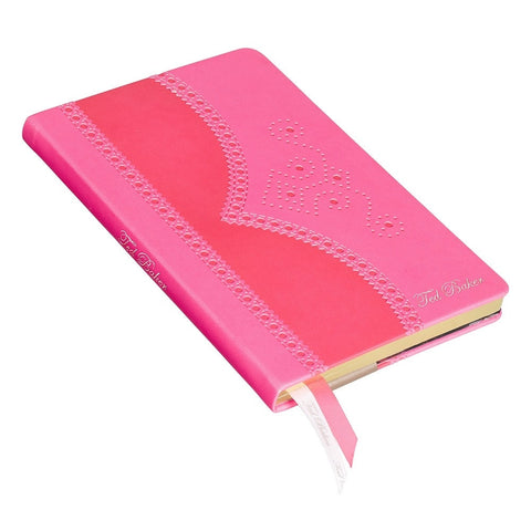 Ted Baker Medium Fluro Pink Brogue Notebook | Wild and Wolf -  Bloomsbury Store - 1