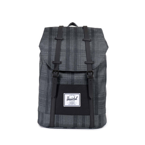 Herschel Supply Plaid Black Retreat Backpack -  Bloomsbury Store - 1