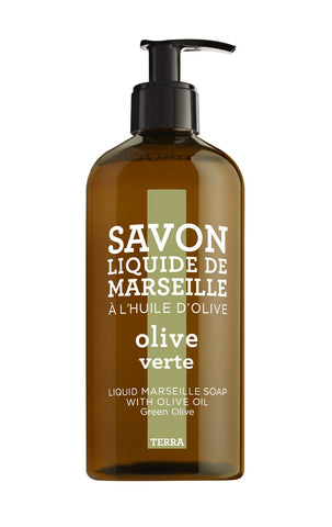 Terra by Compagnie de Provence Liquid Marseille Soap | Green Olive -  Bloomsbury Store