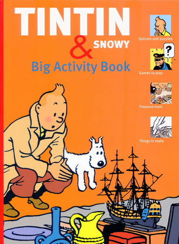 Tintin Book | Big Activity Book Paper Back -  Bloomsbury Store