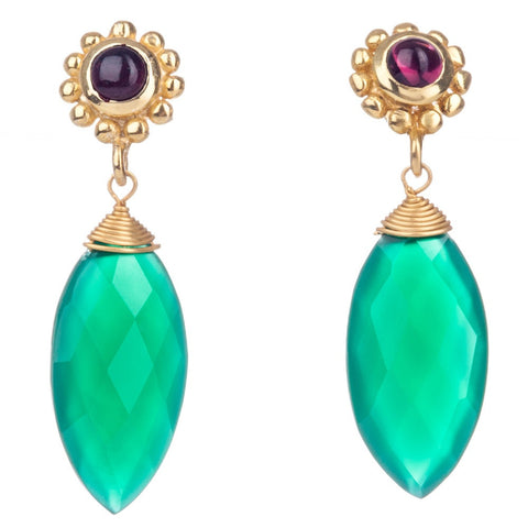 Azuni Medium Tear Drop | Green Onyx -  Bloomsbury Store
