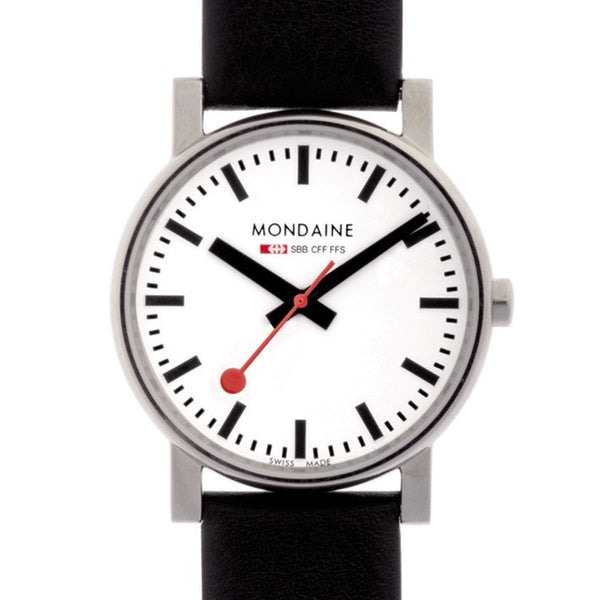 Mondaine Evo Quartz Watch | 35mm Black -  Bloomsbury Store - 1