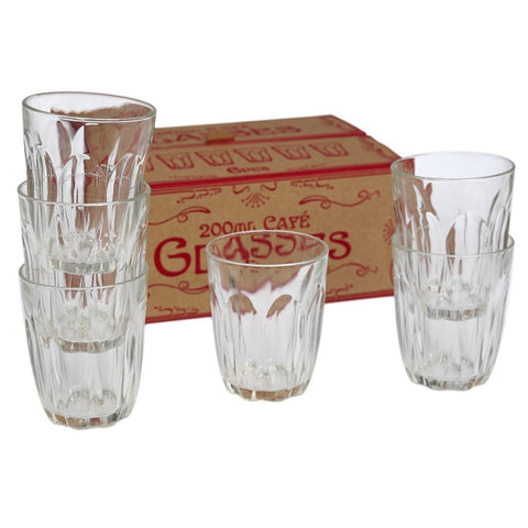 Classic Cafe Glasses | Set of 6 Large -  Bloomsbury Store