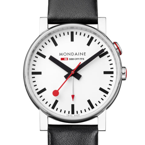 Mondaine Evo Alarm Watch | White -  Bloomsbury Store - 1