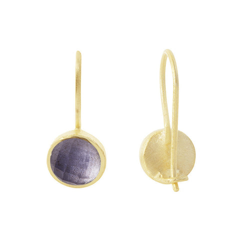 Pomegranate Earrings Gold Small Cupcake Drop | Iolite  | Bloomsbury Store