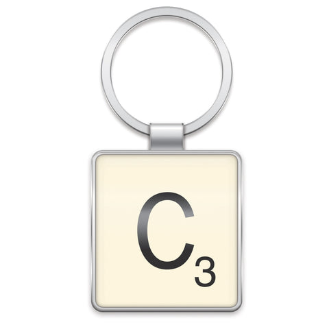 Scrabble Keyring C | Wild and Wolf -  Bloomsbury Store