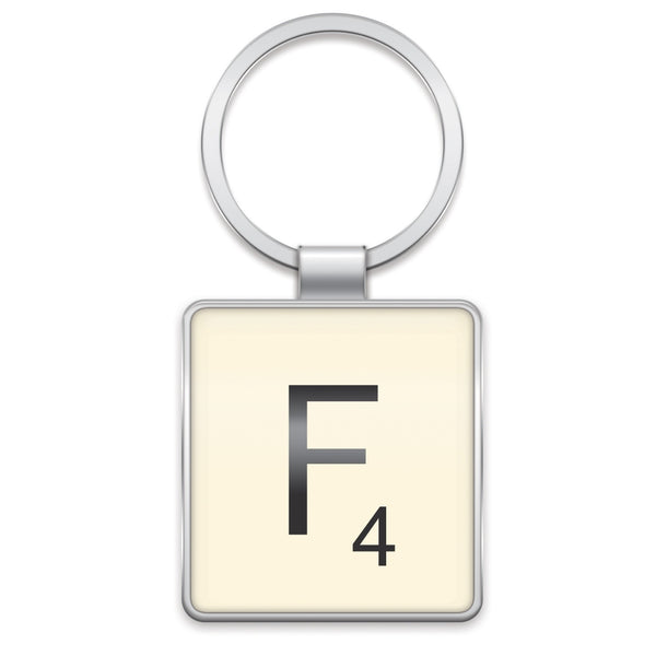 Scrabble Keyring F | Wild and Wolf -  Bloomsbury Store