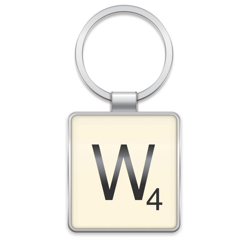 Scrabble Keyring W | Wild and Wolf -  Bloomsbury Store