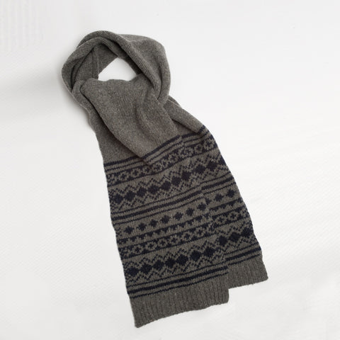 Wolsey Blidworth Scarf | Grey Fairisle -  Bloomsbury Store