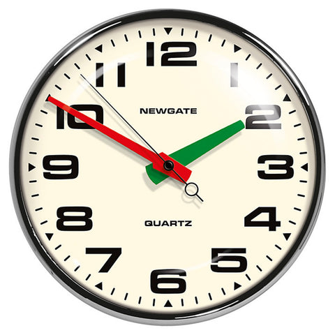 Newgate Wall Clock | Brixton Chrome -  Bloomsbury Store - 1