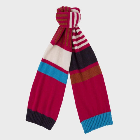 Paul Smith Accessories | Colour Block Scarf Pink -  Bloomsbury Store