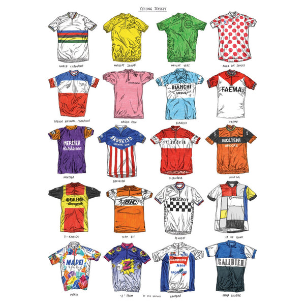 David Sparshott Print | Cycling Jersey Chart -  Bloomsbury Store