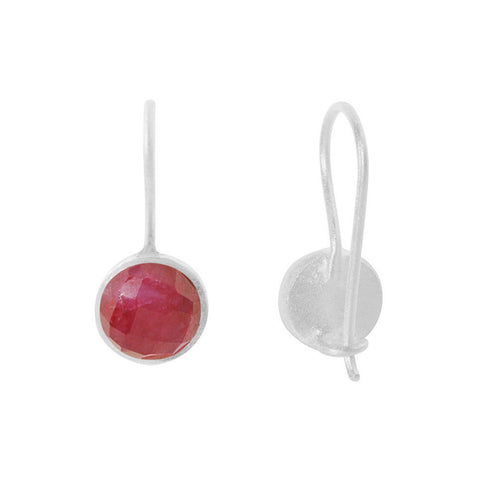 Pomegranate Earrings Silver Small Cupcake Drop | Ruby  | Bloomsbury Store