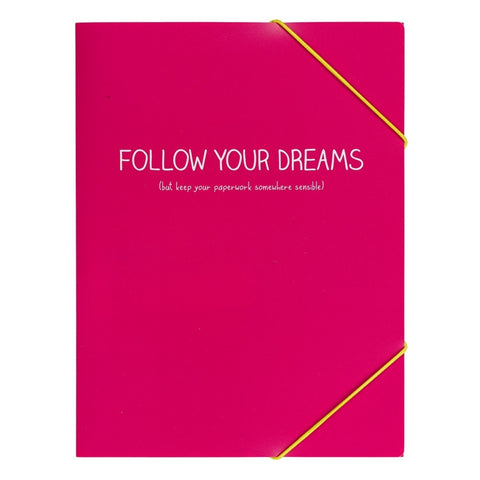 Happy Jackson Follow Your Dreams Document Sleeve | Wild and Wolf -  Bloomsbury Store - 1