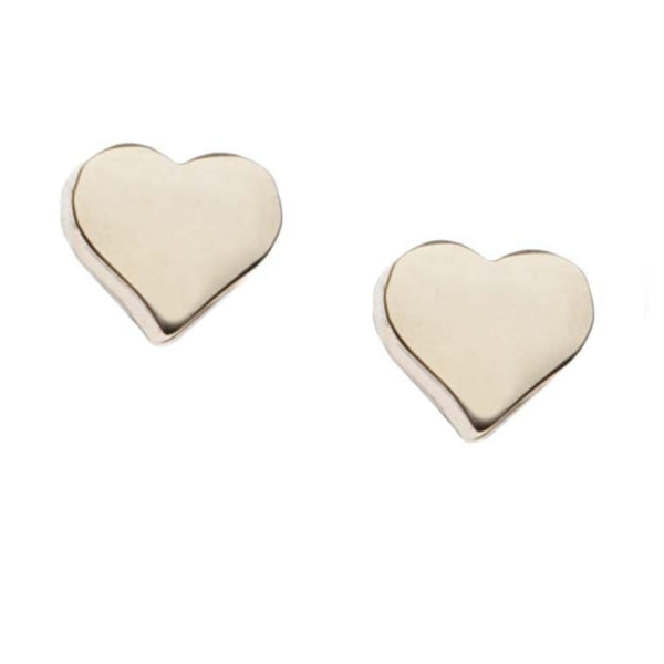 Orelia | Pale Gold Chunky Heart Earrings -  Bloomsbury Store
